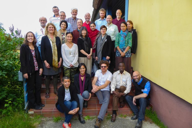 El participants del taller, a l'Acadèmia internacional per la conservació de la natura de Vilm, 16 de juny de 2017.