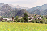 The village of Farrera (Catalonia)
