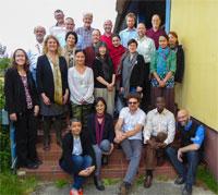 Participants a l'Acadèmia Internacional per la Conservació de la Natura, illa de Vilm, juny de 2017