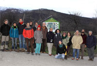 Participants of the workshop at the Botanical and Beekeeping Trail of La Hiruela, Reserve of Biosphere Sierra de Rincón, Spain. Author: Javier Puertas