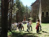 Processó circumval·lant l'ermita nova de Sant Joan de l'Erm (Alt Urgell)
