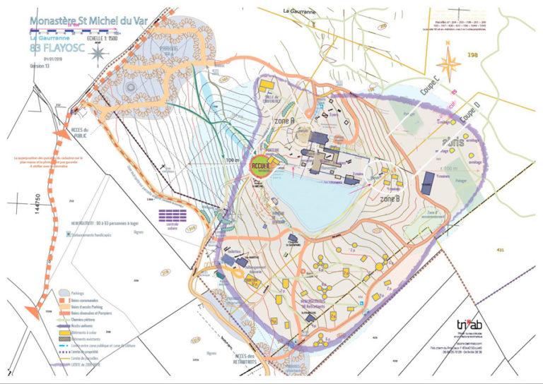 Plan de l'écosite sacré de Saint Michel de Var